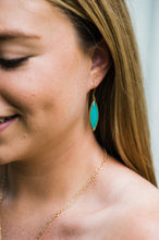 Load image into Gallery viewer, Marquis Earrings - Teal Gold