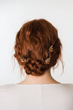 Load image into Gallery viewer, Rose Gold Leaf Hair Pin