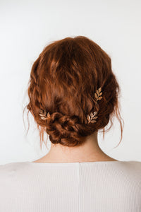 Rose Gold Leaf Hair Pin