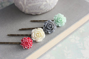 Flower Bobby Pins - BP1005