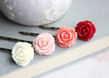 Load image into Gallery viewer, Ombre Rose Bobby Pins - BP1012