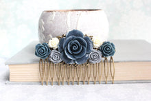 Load image into Gallery viewer, Grey and Navy Rose Comb - C1052