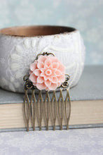 Load image into Gallery viewer, Blush Pink Dahlia Comb - C111