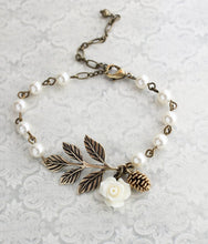 Load image into Gallery viewer, Ivory Cream Charm Bracelet