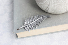 Load image into Gallery viewer, Fern Leaf Bobby Pin - Silver