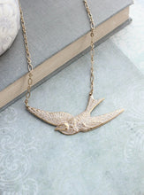 Load image into Gallery viewer, White Bird Necklace