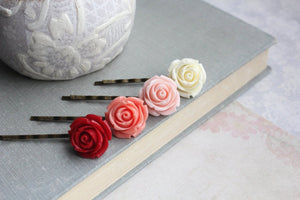 Ombre Rose Bobby Pins - BP1012