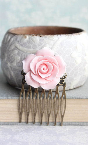 Light Pink Rose Comb - C2001