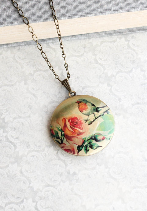 Robin Locket Necklace
