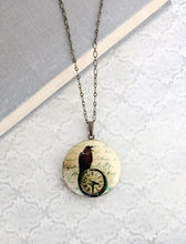 Load image into Gallery viewer, Raven Picture Locket Necklace
