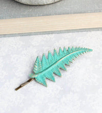Load image into Gallery viewer, Fern Leaf Bobby Pin - Verdigris