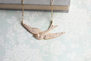 White Bird Necklace