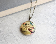 Load image into Gallery viewer, Bicycle and  Bird Locket