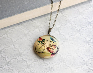 Bicycle and  Bird Locket