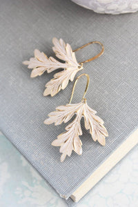Ruffle Leaf Earrings
