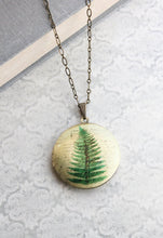 Load image into Gallery viewer, Fern Locket Necklace