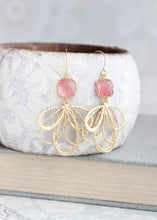 Load image into Gallery viewer, Gold Loop Earrings - Grapefruit