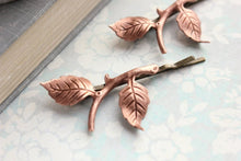 Load image into Gallery viewer, Copper Branch Bobby Pins - 2PC