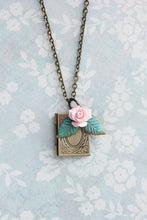 Load image into Gallery viewer, Book Locket - Pink Rose
