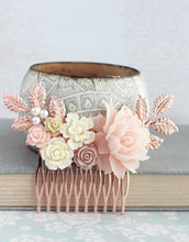 Load image into Gallery viewer, Rose Gold Bridal Hair Piece - C2021