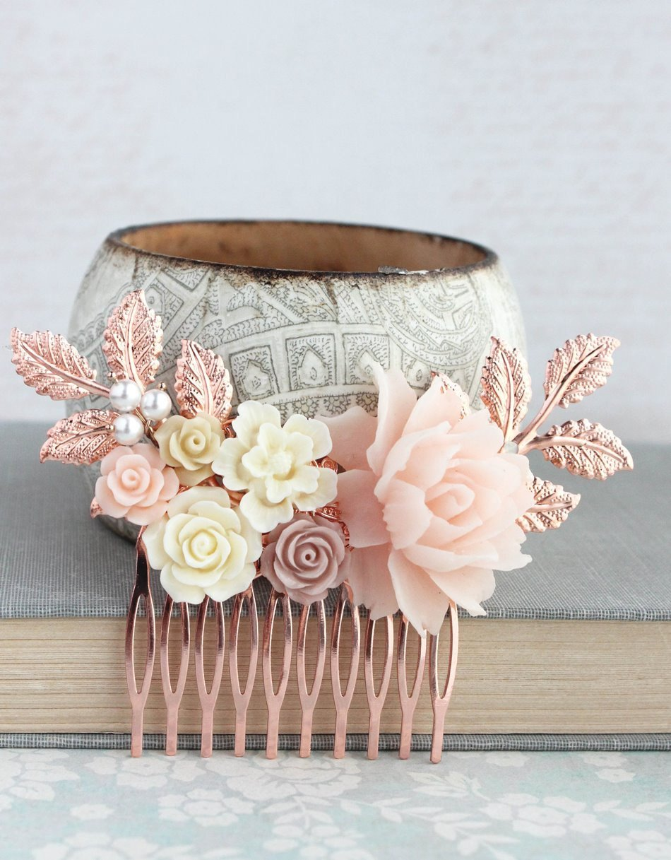 Rose Gold Bridal Hair Piece - C2021