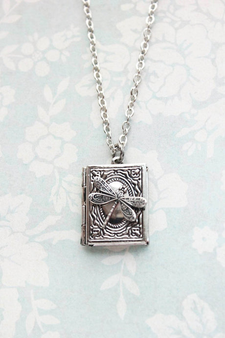 Dragonfly Book Locket