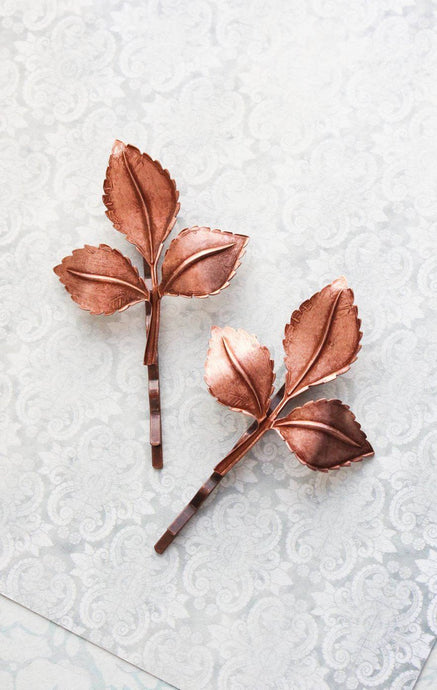 Copper Branch Bobby Pins (Set of two pins)