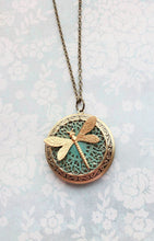 Load image into Gallery viewer, Gold Dragonfly Necklace