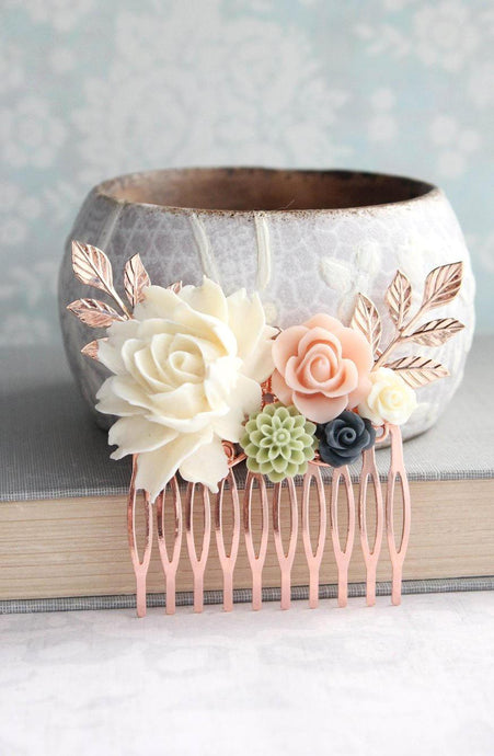Floral Hair Comb - C1054