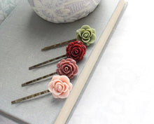 Load image into Gallery viewer, Floral Bobby Pins - BP1004