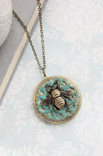Load image into Gallery viewer, Honey Bee Locket Necklace
