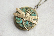 Load image into Gallery viewer, Gold Dragonfly Locket