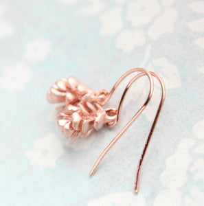 Rose Gold Tree Cone Earrings