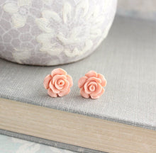 Load image into Gallery viewer, Rose Studs - Peach