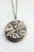 Load image into Gallery viewer, Dragonfly Locket Necklace