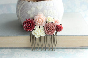 Deep Red Hair Comb - C1021