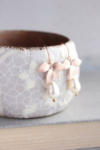 Rose Gold Orchids - Pearl Drop