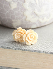 Load image into Gallery viewer, Rose Studs - Butter