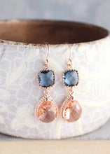 Load image into Gallery viewer, Sparkle Drop Earrings Rose | Blue | Peach