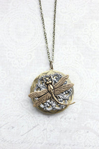 Dragonfly Locket Necklace