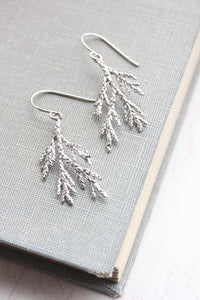 Silver Branch Earrings