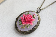 Load image into Gallery viewer, Big Cameo Locket - Hot Pink