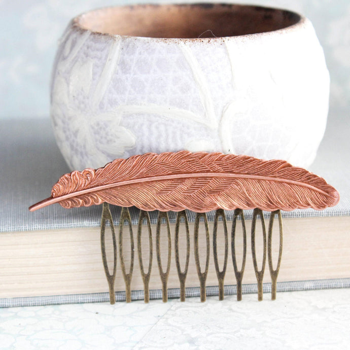 Feather Comb - Copper