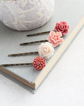Load image into Gallery viewer, Rose Bobby Pins - BP1011