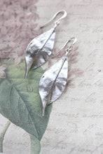 Load image into Gallery viewer, Curled Leaf Earrings - Silver NEW