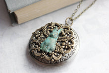 Load image into Gallery viewer, Rabbit Picture Locket - Verdigris Patina