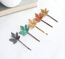 Load image into Gallery viewer, Maple Leaf Bobby Pins - Copper