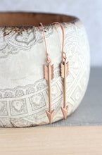 Load image into Gallery viewer, Arrow Earrings - Pink Copper