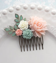 Load image into Gallery viewer, Floral Hair Comb - C1055