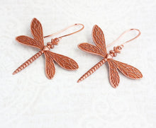 Load image into Gallery viewer, Dragonfly Earrings - Copper